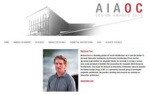 Orange County-AIAOC Design Awards-keynote speaker-150605